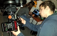 CCD imaging equipment in use