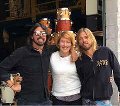Jane Donald with Foo Fighters