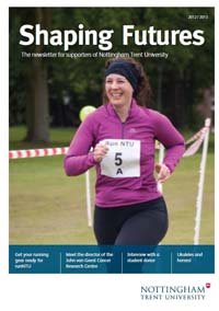 Download our donor newsletter Shaping Futures for 2012/13