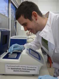 PCR machine in use