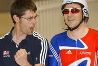 Chris Furber (left) with athlete Darren Kenny