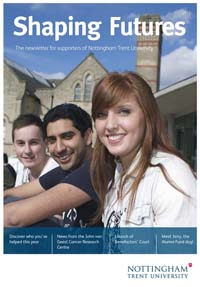 Download our donor newsletter Shaping Futures for 2011